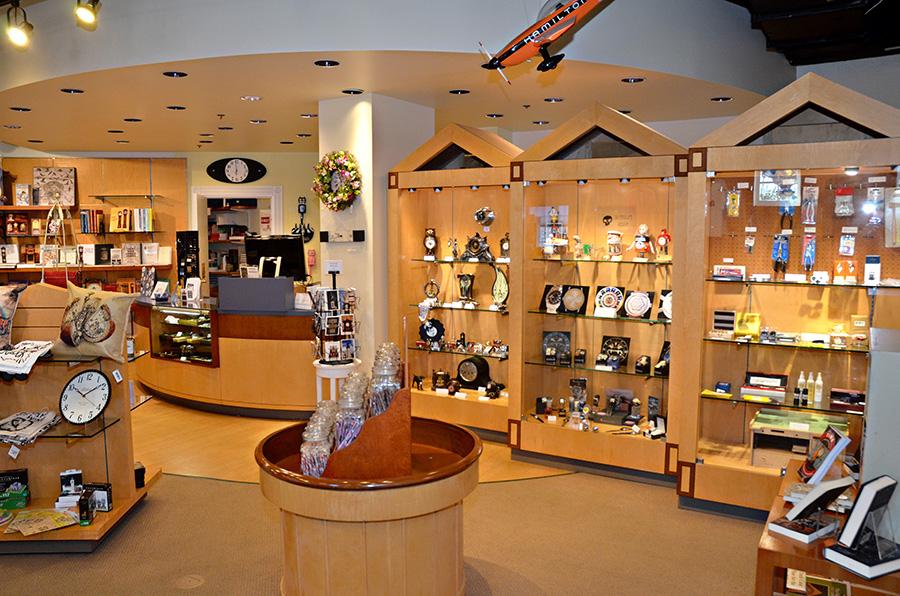 interior of gift shop