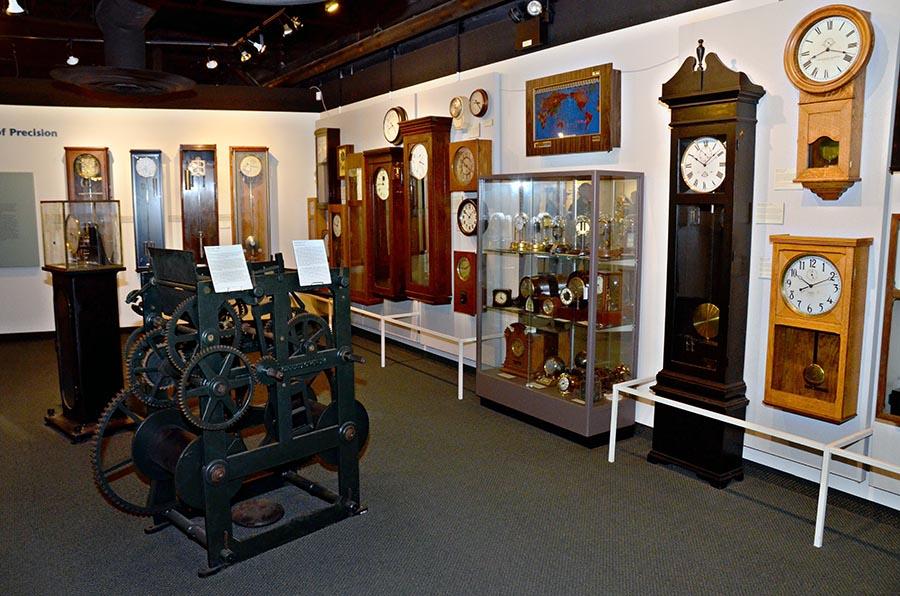 clock display inside museum