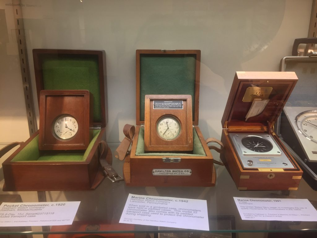 cronometers in wooden cases