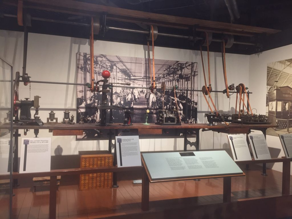 early american clock making on display