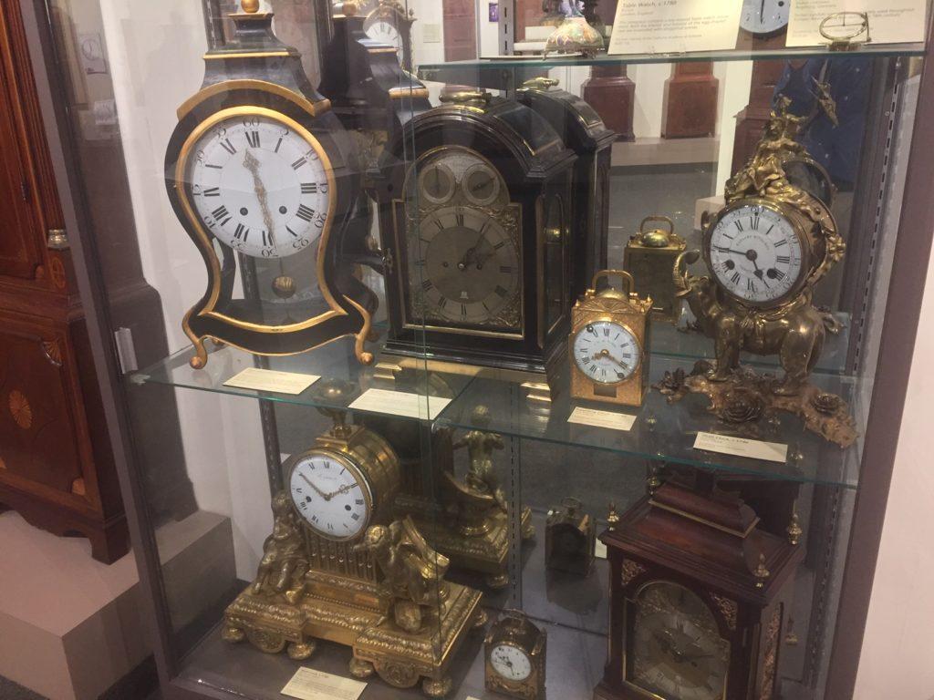 18th century clock display