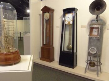 early american clock making display