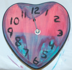 wooden clock wokshop sample